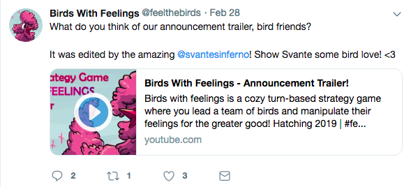 birds with feelings